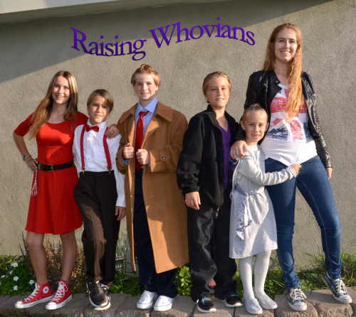 doctorwho:  raisingwhovians:  My six Whovians dressed up last Halloween as Oswin, #11, #10, #9, a weeping angel and Rose.  *:・゚✧ ゜・。。・゜☆゜・。。・゜☆ ゜・。。・゜☆ ゜・。。・゜ You are the stars of the Doctor Who Tumblr so we want your autograph. (✿◡‿◡)