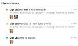 GIGI EDGLEY FOLLOWS ME ON TWITTER NOW. DYING OF LOVE <3  SUCH A GIFT FROM HEAVEN :D :D :D