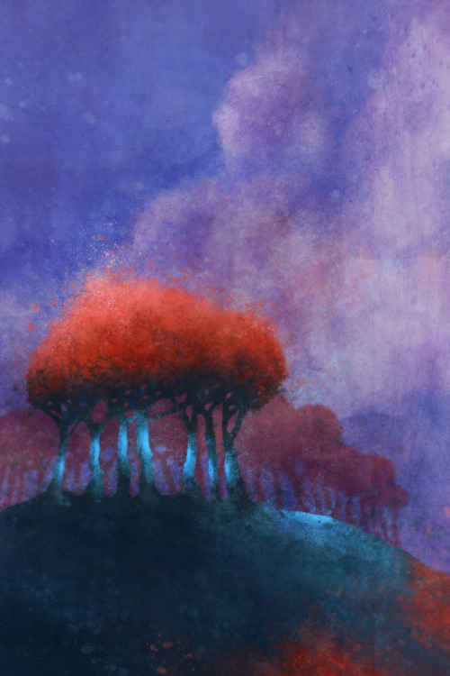 krokoart:  Ken RokoRed Bean Tree 05: Giclee Fine Art Print 13X19Please Check out more images from Etsy.com:http://www.etsy.com/shop/krokoart?section_id=12474833