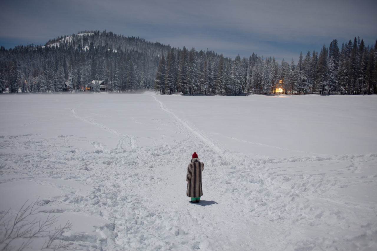 Walking in a winter wonderland.  Serene Lakes, CA - December 2012 ©Lauren Randolph