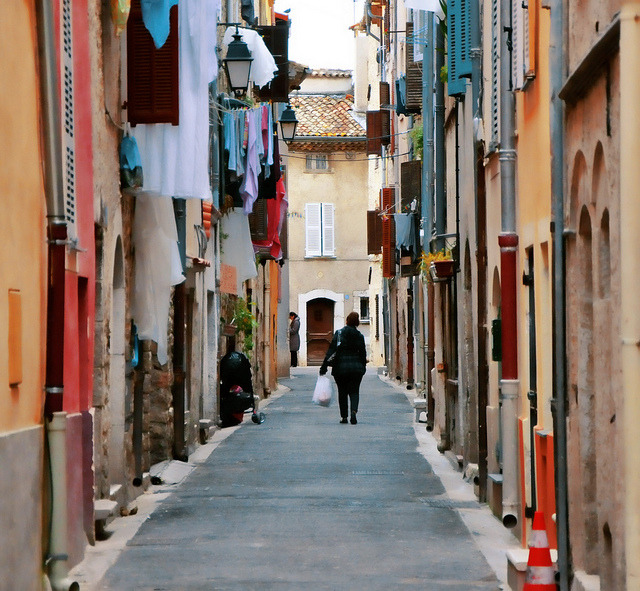 | ♕ |  Side street in Vence, Provence  | by © Martin Pinker