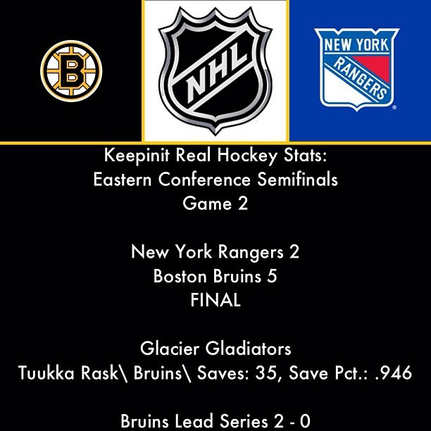 #NHL #EasternConferenceSemifinals #NewYork #Rangers #Boston #Bruins #GlacierGladiators #TuukkaRask #Hockey #IceHockey #Sports #Instasports #Followback #keepinitrealsports #MysterKeepinit