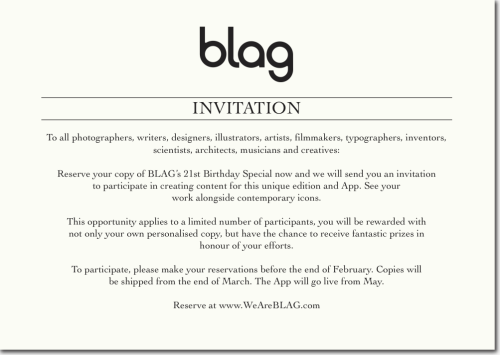 2013 | Invitation For info: http://bit.ly/BLAG21