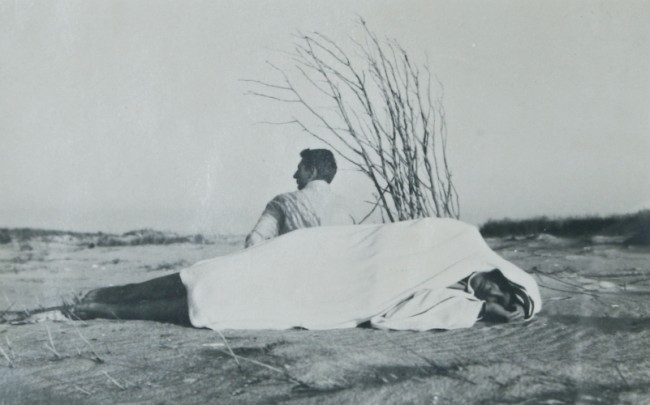 PaJaMa 1940 Untitled (Margaret French & Bernard Perlin, Fire Island)