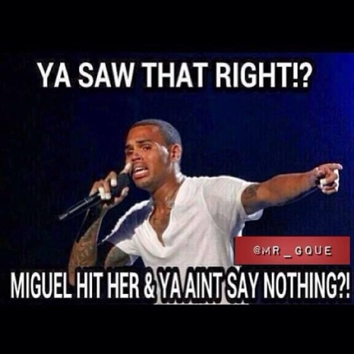 duanecoleman:  #ChrisBrown snitching on #Miguel