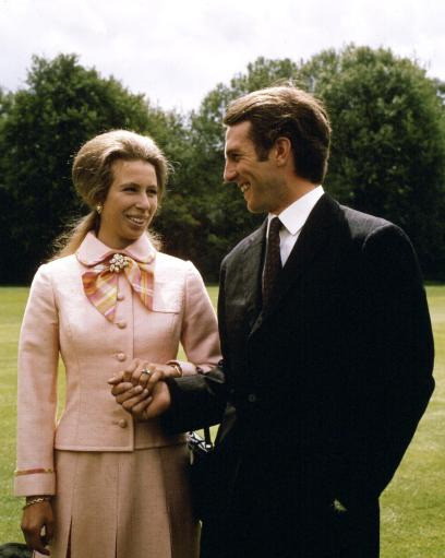 Engagement of Princess Anne and Captain Mark Philips, 1973 by The British Monarchy on Flickr.Via Flickr: Princess Anne and Captain Mark Philips, 30 May 1973, in the garden of Buckingham Palace, the day after their engagement was announced. Find out more about royal weddings from 1840 to 1947 in the Royal Collection publication Five Gold Rings, or by visiting the Royal Collection website. Press Association