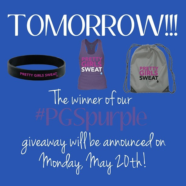 Entered our #PGSpurple giveaway? We're announcing the winner tomorrow. STAY TUNED! #PrettyGirlsSweat #PGS #Sweatspiration #Fitspiration #fit #motivation #WeightLoss #CleanEating #healthy #body #Health #Fitspo #Sweatspo #Sweat #Exercise #Workout #Fitness #Fitspired