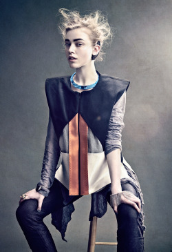 "stormtrooperfashion:  Linnea G (Elite) in ""Leaving the Nest"" by Lisa Hasselgren for REVS Magazine, May 2013"