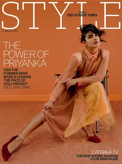 The Sunday Times Style Magazine, Issue 10 January 2021. Priyanka Chopra wears Maison Margiela by John Galliano, Défilé Fall 2020 collection. Photographer Christina Ebenezer, styled by Molly Haylor #Maison Margiela#Margiela #Maison Margiela by John Galliano #John Galliano#Galliano#fashion#fashion shoot#magazine cover#cover #The Sunday Times Style  #The Sunday Times Style Magazine  #The Sunday Times #Christina Ebenezer#Molly Haylor#aw20#actor#actress#style#Priyanka Chopra#fashion photography