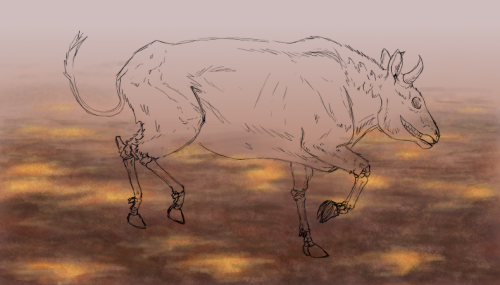 Not scientific illustration-wise, but still art! Having fun with dead cows and new brushes, thanks to GIMP Paint Studio.