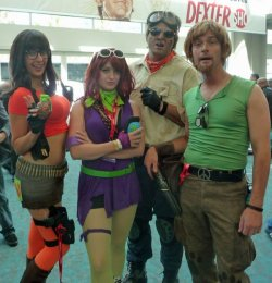 "caspertheprince:  splintercellconviction:  dorkly:  Post-Apocalyptic Scooby Doo Gang ""And I would've gotten away with the nuclear war too, if not for you meddling kids!""  I was about to make a joke about the fact that Scooby isn't present until the horrified realisation that they probably killed and ate him to survive hit me and it suddenly wasn't funny any longer  Ruh-roh.  Looks like this time they all got a Scooby Snack…"