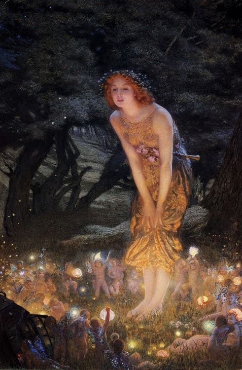 mudwerks:  (via LARGE SIZE PAINTINGS: Arthur HUGHES Midsummer Eve)