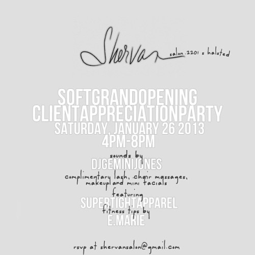 TOMORROW #softgrandopening - complimentary services include lash extensions, makeup application, mini facials & chair massages from some of the BEST in the industry. Cocktails by @mrmixologist, sounds by @geminijones - bring a new face! 4-8, 2201 S Halsted. After party at Bistro by the Pier!