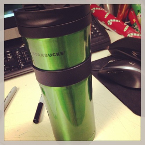 Inside this green mug is the giver of all things wonderful and good in life.  Oh coffee, you are so good.