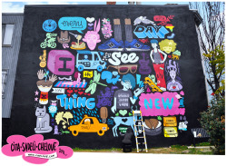 'Every Day I See Something New'30 x 40' mural (click image for full size) Love for my city. A nod to its musical heroes, flavor centers & hidden treasures. Freshly wrapped in Washington, DC | November 2011 Located here. Come by, take some ill photos & send them to me :)