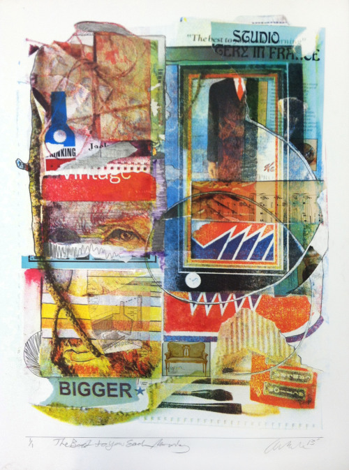 The Best To You Each Morning Silkscreen, Collage 2013