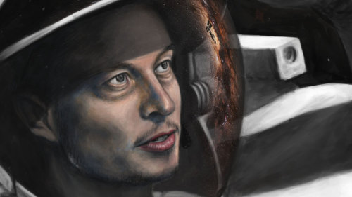 Elon Musk Portrait - SpaceX by ~Lewis3222
