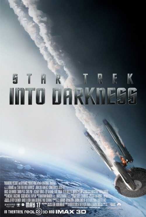 Here's a brand new poster for the upcoming film Star Trek: Into Darkness featuring the starship Enterprise falling from space!! Enjoy!! :)  -The Captain OC