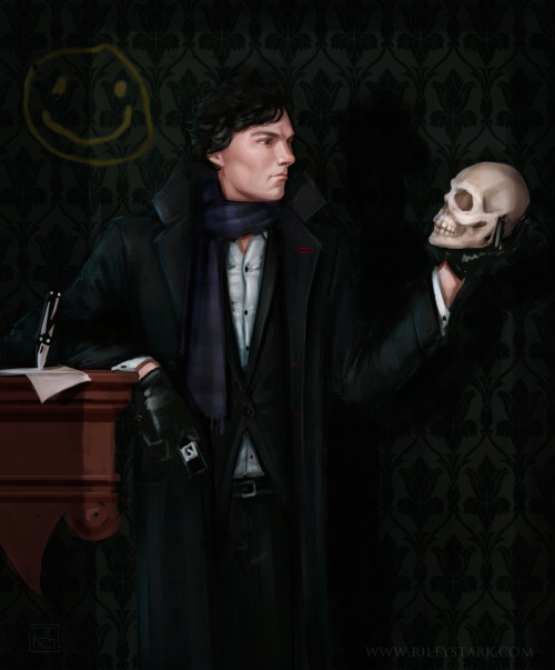 rileystark:  A Sherlockian spin on an old Leyendecker piece.. because why not? XD Painter 12.