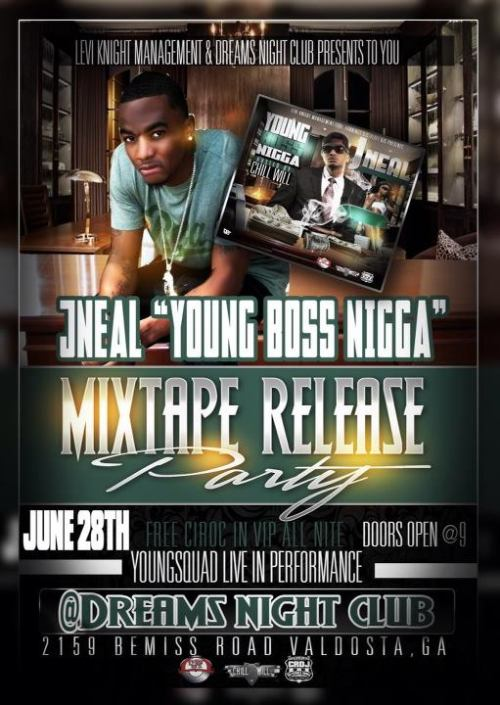 mixtape release party June 28th for @soloneal @clubdreams2159 hosted by @chilligrindwill #YBN doors open @9pm
