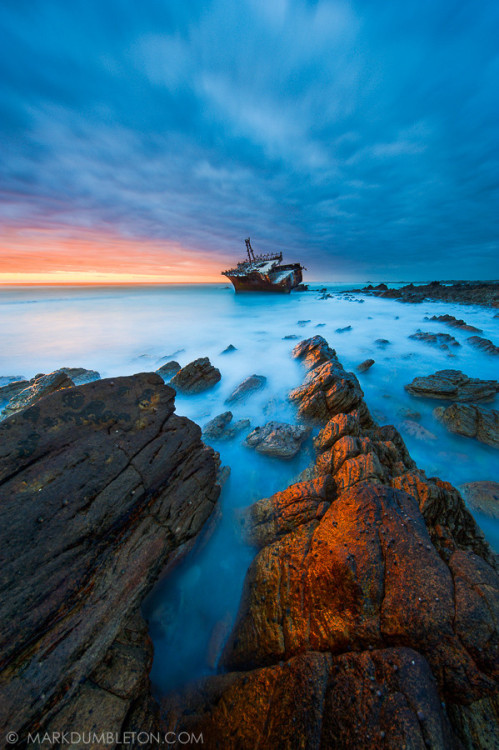 "magicalnaturetour:  ""Meisho Maru Wreck"" by Mark Dumbleton"