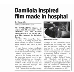 A tiny bit of the article! 'What could have been' isn't just set in a hospital yes it was an important part of the film but there's so much more. I think the title says it all really. I can't wait for the film to be finished, it's in production at the moment.   Like I said earlier the press do tend to make mistakes! No offence to her, she was lovely /: