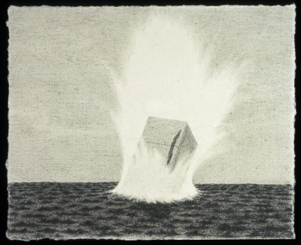 "Splash-down Graphite 3"" x 4"" 2004 Scott Espeseth"