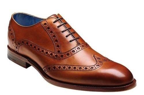Barker Grant Calf Leather Brogue Shoes, Cedar