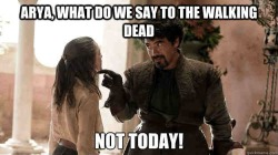 Game of Thrones and The Walking Dead are on at the same time this Sunday.