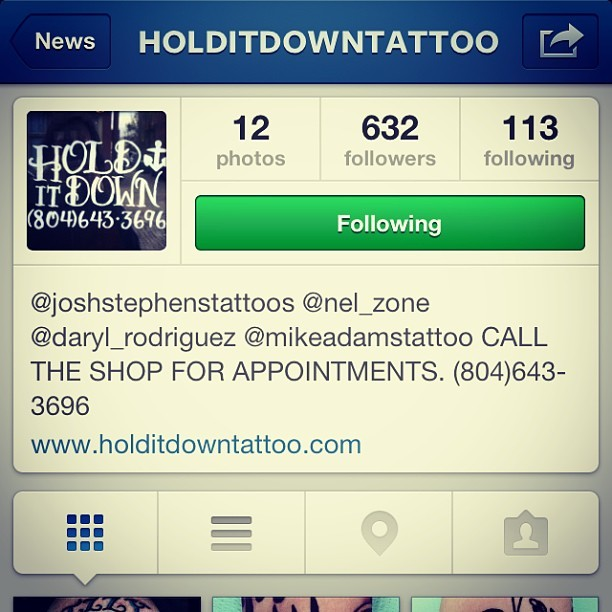 GO FOLLOW!!! @holditdowntattoo  (at NY Adorned)
