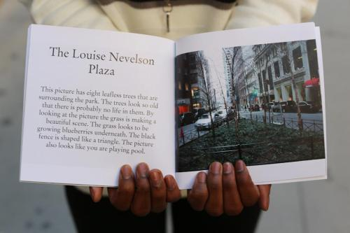 humansofnewyork:  This is a page from a book of photos by a talented young photographer with autism named Akeem Bonaparte. Take a close look. The image and words give a fascinating glimpse into Akeem's mind.  Akeem was trained by the Josephine Herrick Project, which teaches photography to veterans and people with special needs. Such a cool initiative.