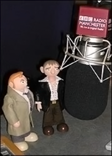 strutitgene:  The Camberwick Green sequence puppets on Radio Manchester. Emote for all you're worth, little puppets! The people must hear you!