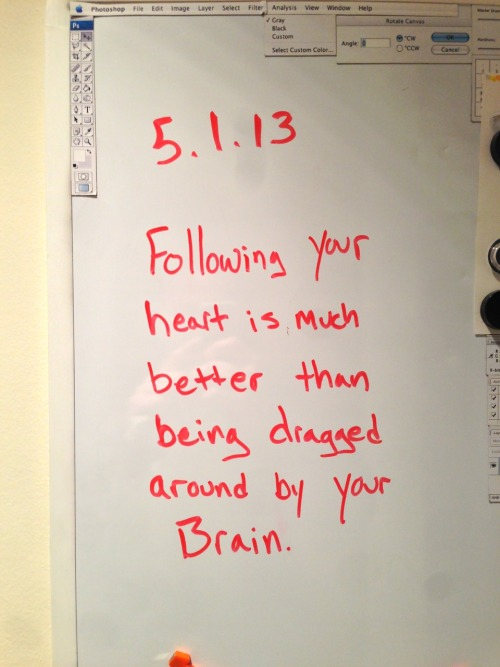 Note to self: head vs. heart…
