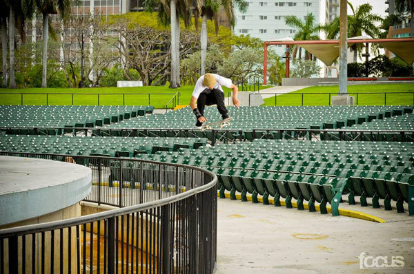 This photograph of Chris Wimer doing a hardflip in Miami shot by Jon Spitzer is Focus Magazine's Photo of the Week.