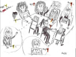 Un nouveau think tank de haute volée sest constitué à lagence, on a hâte de voir les résultats. Illustration by Clemtou - tous droits réservés.