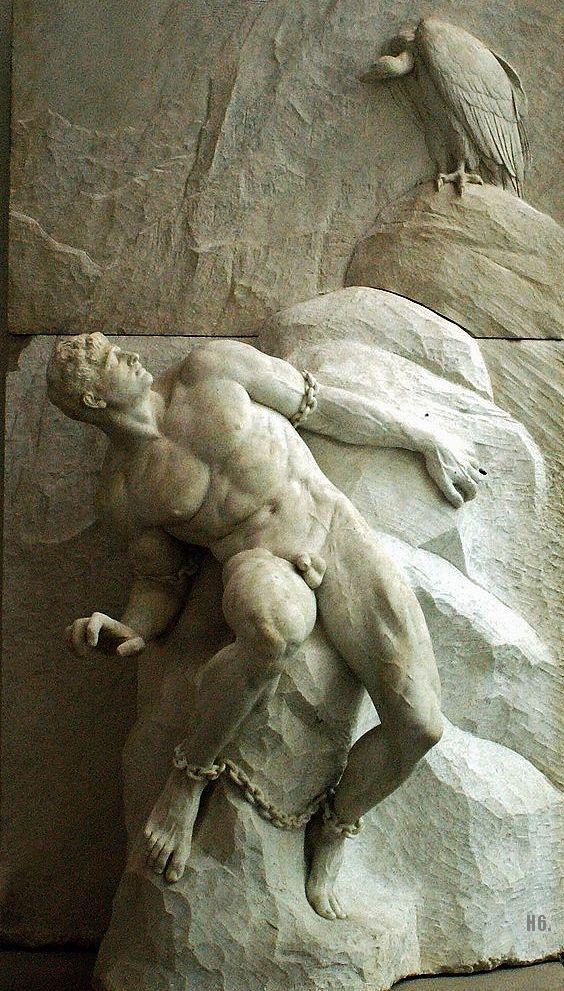 Prometheus. 1900. Reinhold Begas. German. 1831-1911. marble. http://hadrian6.tumblr.com