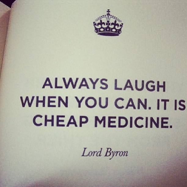 Laughing is the way to go! 😊