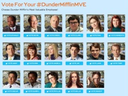 vastmedia:  NBC's #SocialTV voting for #TheOffice #DunderMifflinMVE most valuable employee