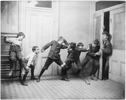 ..boys fighting in schoolroom, 1907