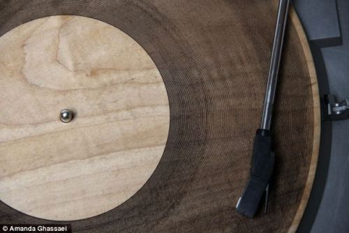 Forget vinyl, engineer produces the world's first laser-cut records made from WOOD! (Click here for dailymail article.) Designer experimented by lasering ridges into acrylic and paper  Step-by-step instructions explain how you can turn your own downloads into wooden records 'Some songs are better suited for this process, songs that are very full in the lower to mid range, but also very sparse overall are best.'
