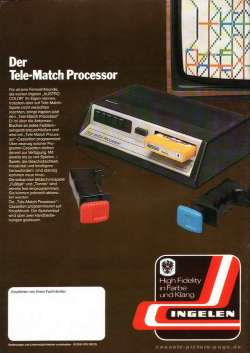 Ingelen Tele-Match Processor  (Fairchild Channel F) - 1978 Page Pong