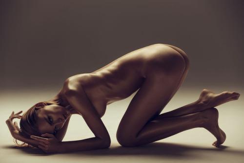 Naked thin and shiny