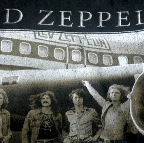 Led Zeppelin on my old T-shirt