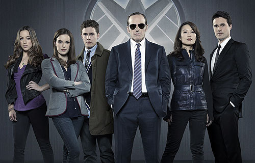 "whedonesque:  Agents of S.H.I.E.L.D. cast photo via Zap2it: ""'Marvel's Agents of S.H.I.E.L.D.' officially picked up at ABC; get your first look at the cast"""