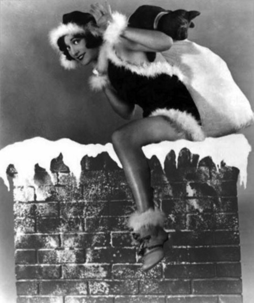 Joan Crawford's coming down your chimney. Better be nice. Or, naughty, if you're into that.