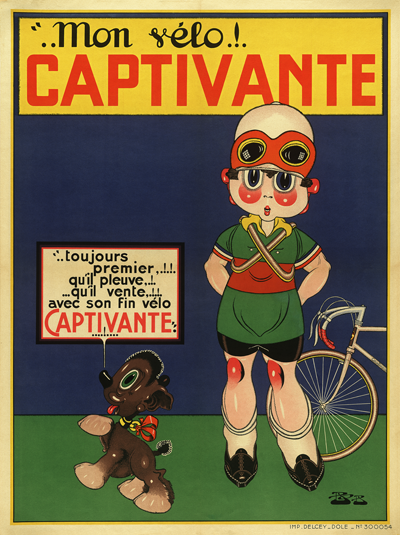Captivante Bicycle Poster