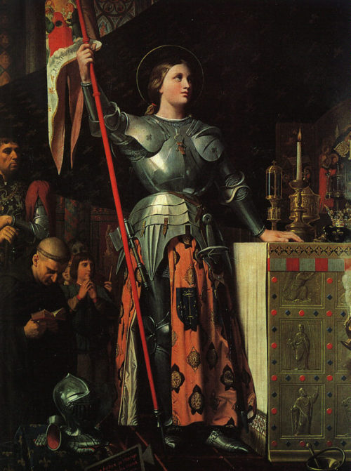 """""""Joan of Arc on Coronation of Charles VII in the Cathedral of Reims"""", 1854, Jean Auguste Dominique Ingres."""