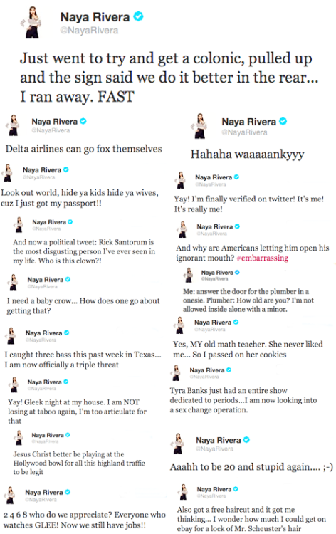Best of Naya Rivera's twitter