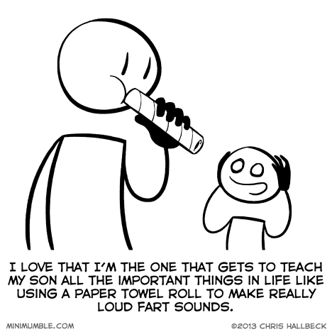 Loud. via: http://minimumble.thebookofbiff.com/2013/05/10/348-toot/
