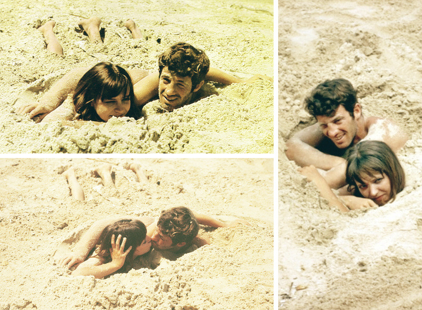On the set of Pierrot le Fou, 1965.
